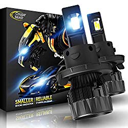Cougar Motor X-Small H13 LED Headlight Bulb, 10000Lm 6500K (Hi/Lo) All-in-One Conversion Kit – Cool White CREE, 360°Adjustable Beam