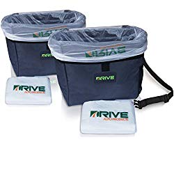 Drive Auto Products Car Garbage Can (2-Pack) from The Drive Bin As Seen On TV Collection, Black Strap