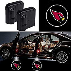 For Arizona Cardinals Car Door Led Welcome Laser Projector Car Door Courtesy Light Suitable Fit for all brands of cars (Arizona Cardinals)