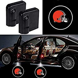 For Cleveland Browns Car Door Led Welcome Laser Projector Car Door Courtesy Light Suitable Fit for all brands of cars(Cleveland Browns)