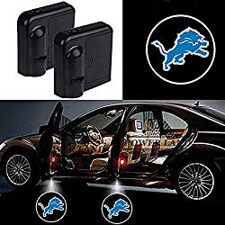 For Detroit Lions Car Door Led Welcome Laser Projector Car Door Courtesy Light Suitable Fit for all brands of cars (Detroit Lions)