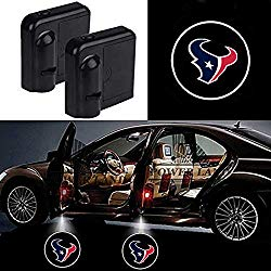 For Houston Texans Car Door Led Welcome Laser Projector Car Door Courtesy Light Suitable Fit for all brands of cars(Houston Texans)