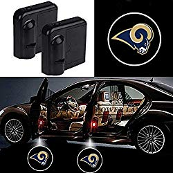 For Los Angeles Rams Car Door Led Welcome Laser Projector Car Door Courtesy Light Suitable Fit for all brands of cars (Los Angeles Rams)