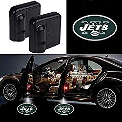For New York Jets Car Door Led Welcome Laser Projector Car Door Courtesy Light Suitable Fit for all brands of cars(New York Jets)