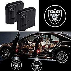 For Oakland Raiders Car Door Led Welcome Laser Projector Car Door Courtesy Light Suitable Fit for all brands of cars (Oakland Raiders)