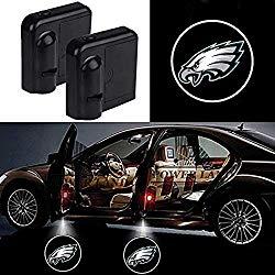 For Philadelphia Eagles Car Door Led Welcome Laser Projector Car Door Courtesy Light Suitable Fit for all brands of cars (Philadelphia Eagles)