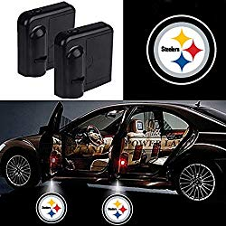 For Pittsburgh Steelers Car Door Led Welcome Laser Projector Car Door Courtesy Light Suitable Fit for all brands of cars (Pittsburgh Steelers)