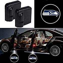 For Seattle Seahawks Car Door Led Welcome Laser Projector Car Door Courtesy Light Suitable Fit for all brands of cars (Seattle Seahawks)