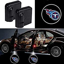 For Tennessee Titans Car Door Led Welcome Laser Projector Car Door Courtesy Light Suitable Fit for all brands of cars (Tennessee Titans)