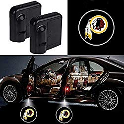 For Washington Redskins Car Door Led Welcome Laser Projector Car Door Courtesy Light Suitable Fit for all brands of cars(Washington Redskins)