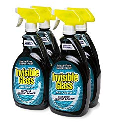 Invisible Glass 92194-4PK 32 oz. – Cleaner and Window Spray for Home and Auto for a Streak-Free Shine. Film-Free Glass Cleaner Safe for Tined and Non-Tinted Windows. Windshield Film Remover, Set of 4