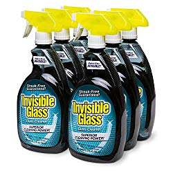Invisible Glass 92196-6PK 32 oz. – Cleaner and Window Spray for Home and Auto for a Streak-Free Shine. Film-Free Glass Cleaner Safe for Tined and Non-Tinted Windows. Windshield Film Remover, Set of 6
