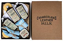 Leather Milk Leather Restoration Kit – Heal & Restore Antique Leather. Cleaner, Conditioner, Water Protectant, Healing Balm, Detailing Brushes, Pads, More! All-Natural. Made in USA