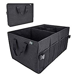 MIU COLOR Heavy Duty Auto Trunk Organizer – Collapsible Durable Cargo Storage Organizer Bin and Carrier with Pockets for Car Truck SUV Van