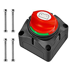 Nilight Battery Switch 12-48V Waterproof Heavy Duty Battery Power Cut Master Switch Disconnect Isolator for Car Vehicle RV and Marine Boat (On/Off),2 Years Warranty
