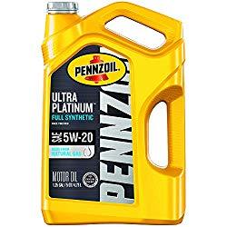 Pennzoil Ultra Platinum Full Synthetic 5W-20 Motor Oil (5 Quart, Case of 3)