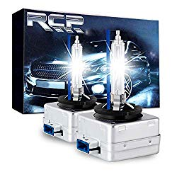 RCP D8S 8000K A Pair Xenon HID Replacement Bulb Ice Blue Metal Stents Base 12V Car Headlight Lamps Head Lights 25W