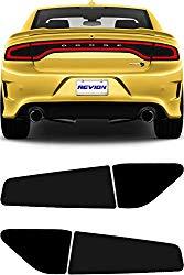 REVION Autoworks 2015-2020 Dodge Charger Tail Light Tint Kit | Precut Dark Black Smoke Vinyl Overlays for '15-'20 Dodge Charger Taillight | Tinted Dry Application Film