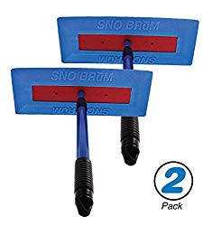 SNOBRUM – The Original Snow Broom and Snow Remover for Cars and Trucks, 2 Pack – 28″ Extendable Handle, Push-Broom Design – Safe Winter Snow Removal for Your Vehicle Without Paint Scratching