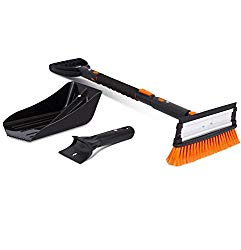 Snow Moover 39″ Extendable Snow Brush with Squeegee, Ice Scraper & Emergency Snow Shovel – Foam Grip – Auto Snow Brush – Ice Removal – no Scratch Removal Tool – Car Truck SUV – Vehicle Windshield