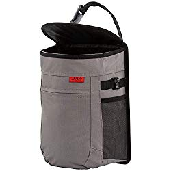 Spill-Proof Car Trash Can | Compact 2.5 Gallon Hanging Garbage Bin with Odor Blocking Technology, Removable Liner & Storage Pockets Keeps Your Truck, Minivan & SUV Looking Sharp & Smelling Fresh