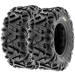 SunF A033 ATV/UTV Tires — 25×11-12 — 6 Ply | Pair of 2 | All-Terrain Off-Road