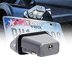 Surface-Mount LED Trailer License Plate Lights [DOT/SAE Certified] [IP67 Waterproof Rated] [Ultra-Durable] License Tags for Trailers, RVs, Trucks & Boats – Gray Housing