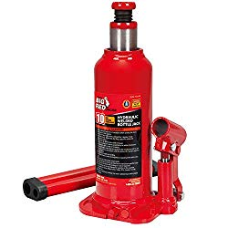 Torin Big Red Hydraulic Bottle Jack, 10 Ton (20,000 lb) Capacity