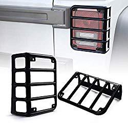 Xprite Matte Black Light Guard Rear Tail Light Cover for 2007-2018 Jeep Wrangler JK Unlimited – Pair