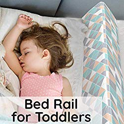 Bed Rails for Toddlers – Toddler Bed Rail Keep Them Safe at Night from Falling Out of Bed – Includes Belt with Clip to Hold in Place + Additional Extension to Belt!…
