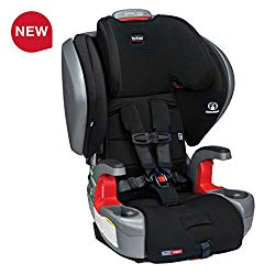 Britax Grow with You ClickTight Plus Harness-2-Booster Car Seat – 3 Layer Impact Protection – 25 to 120 pounds, Jet Safewash Fabric [Newer Version of Pinnacle]