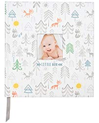 C.R. Gibson Little Man Perfect-Bound Memory Book for Newborn and Baby Boys, 9.5″ x 10″