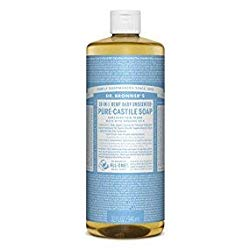 Dr. Bronner's – Pure-Castile Liquid Soap (Baby Unscented, 32 Ounce)