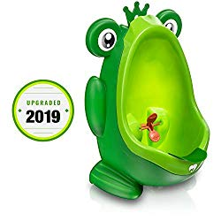 Frog Potty Training Urinal for Boys Toilet with Funny Aiming Target – Green