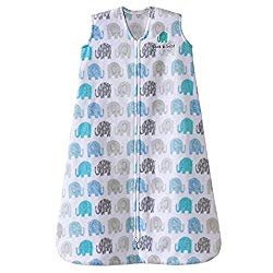Halo – SleepSack Wearable Blanket Micro-fleece, Elephant Texture, Gray, Large