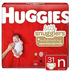 Huggies Little Snugglers Baby Diapers, Size Newborn, 31 Ct