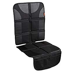 Lusso Gear Car Seat Protector with Thickest Padding – Featuring XL Size (Best Coverage Available), Durable, Waterproof 600D Fabric, PVC Leather Reinforced Corners & 2 Large Pockets for Handy Storage
