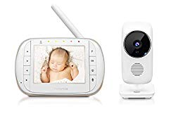 Motorola Smart Video Baby Monitor with Wi-Fi and 3.5″ Color LCD Parent Unit, Night Vision, Two-Way Audio, Room Temperature Display and 5 Lullabies, MBP668CONNECT