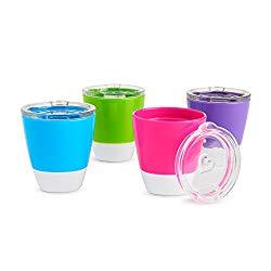 Munchkin Splash Toddler Cups with Training Lids, 7 Oz, 4 Pack