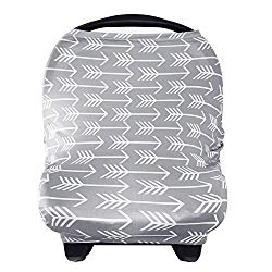 Nursing Cover Breastfeeding Scarf – Baby Car Seat Covers, Infant Stroller Cover, Carseat Canopy for Girls and Boys by YOOFOSS