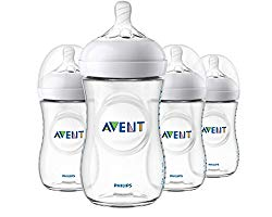 Philips Avent Natural Baby Bottle, Clear, 9oz, 4pk, SCF013/47