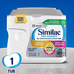 Similac Pro-Advance Non-GMO Infant Formula with Iron, with 2′-FL HMO, for Immune Support, Baby Formula, Powder, 23.2 Ounce