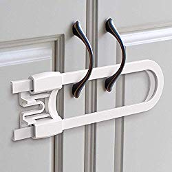 Sliding Cabinet Locks (8-Pack) 5 inch, Multi-Purpose Child Safety Lock, Hassle Free No Tools or Drilling Required, Best for Baby Proofing, Strong ABS Free Plastic Knob Cover, Baby Proof by Skyla Homes