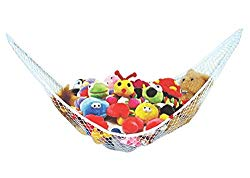 Stuffed Animal Toy Hammock – Best for keeping rooms clean, organized and clutter-free – Comes with BONUS FREE E-Book, Toy Organizer Storage Net is Durable and Easy to Install
