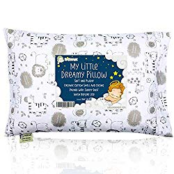 Toddler Pillow With Pillowcase – 13X18 Soft Organic Cotton Baby Pillows For Sleeping – Machine Washable – Toddlers, Kids, Infant – Perfect For Travel, Toddler Cot, Bed Set (KeaSafari)