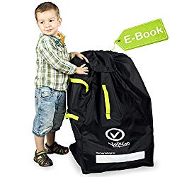 VolkGo Durable Car Seat Travel Bag with E-Book — Ideal Gate Check Bag for Air Travel & Saving Money — for Safe & Secure Car Seat — Fits Car Seats, Infant Carriers & Booster