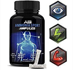 AmmoniaSport Athletic Smelling Salts – Ampules (25) Smelling Salts Powerlifting – Ammonia Inhalant – Salt Sticks – Rush Inhalant – Focus Up – Powerlifting Gear – Focus Aid – Energy Aid – Nose Lifting