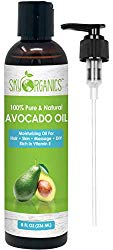 Avocado Oil by Sky Organics (8oz) 100% Pure Natural & Cold-Pressed Avocado Oil – Ideal for Massage Cooking and Aromatherapy – Rich in Vitamin E & Oleic Acid