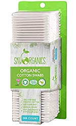 Cotton Swabs Organic by Sky Organics (Large pack of 500 ct.) Natural Cotton Buds, Cruelty-Free Cotton Swabs, Biodegradable, All Natural Cotton Swabs, Chlorine-Free Hypoallergenic Cotton Swabs