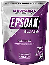Epsoak SPORT Lavender Epsom Salt for Athletes – 5 lbs. SOOTHING Therapeutic Soak with Lavender Essential Oil